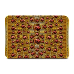 Angels In Gold And Flowers Of Paradise Rocks Plate Mats by pepitasart