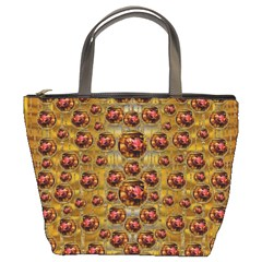 Angels In Gold And Flowers Of Paradise Rocks Bucket Bags by pepitasart