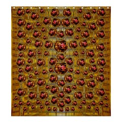 Angels In Gold And Flowers Of Paradise Rocks Shower Curtain 66  X 72  (large)  by pepitasart