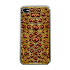 Angels In Gold And Flowers Of Paradise Rocks Apple Iphone 4 Case (clear) by pepitasart