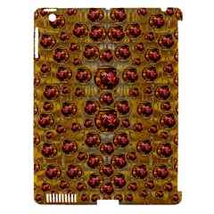 Angels In Gold And Flowers Of Paradise Rocks Apple Ipad 3/4 Hardshell Case (compatible With Smart Cover) by pepitasart