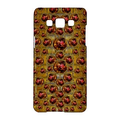 Angels In Gold And Flowers Of Paradise Rocks Samsung Galaxy A5 Hardshell Case  by pepitasart