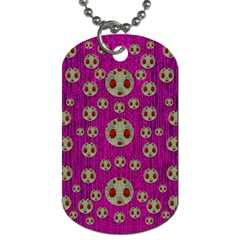 Ladybug In The Forest Of Fantasy Dog Tag (two Sides) by pepitasart