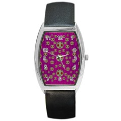 Ladybug In The Forest Of Fantasy Barrel Style Metal Watch by pepitasart