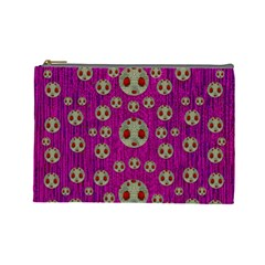 Ladybug In The Forest Of Fantasy Cosmetic Bag (large)  by pepitasart