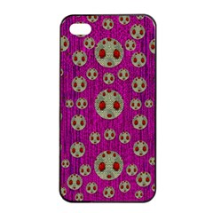 Ladybug In The Forest Of Fantasy Apple Iphone 4/4s Seamless Case (black) by pepitasart