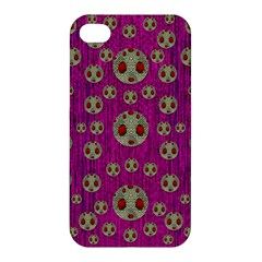 Ladybug In The Forest Of Fantasy Apple Iphone 4/4s Premium Hardshell Case by pepitasart