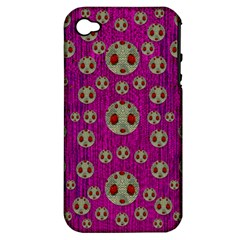 Ladybug In The Forest Of Fantasy Apple Iphone 4/4s Hardshell Case (pc+silicone) by pepitasart