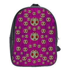 Ladybug In The Forest Of Fantasy School Bags (xl)  by pepitasart