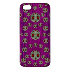 Ladybug In The Forest Of Fantasy Apple Iphone 5 Premium Hardshell Case by pepitasart