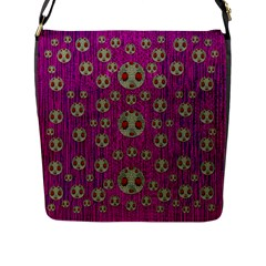 Ladybug In The Forest Of Fantasy Flap Messenger Bag (l)  by pepitasart
