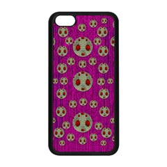 Ladybug In The Forest Of Fantasy Apple Iphone 5c Seamless Case (black) by pepitasart
