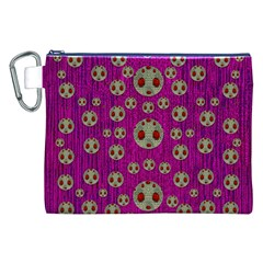 Ladybug In The Forest Of Fantasy Canvas Cosmetic Bag (xxl) by pepitasart