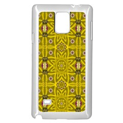 Stars And Flowers In The Forest Of Paradise Love Popart Samsung Galaxy Note 4 Case (white) by pepitasart