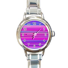 Cool Abstract Lines Round Italian Charm Watch by BangZart