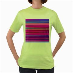 Cool Abstract Lines Women s Green T Shirt