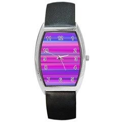 Cool Abstract Lines Barrel Style Metal Watch by BangZart