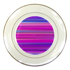 Cool Abstract Lines Porcelain Plates