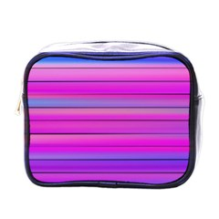 Cool Abstract Lines Mini Toiletries Bags by BangZart