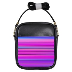 Cool Abstract Lines Girls Sling Bags by BangZart