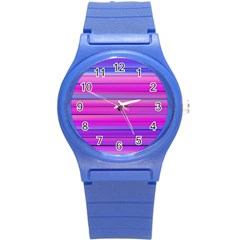 Cool Abstract Lines Round Plastic Sport Watch (s) by BangZart