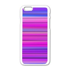 Cool Abstract Lines Apple Iphone 6/6s White Enamel Case by BangZart