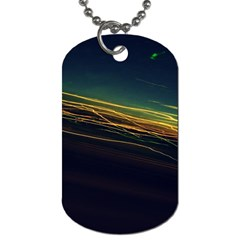 Night Lights Dog Tag (two Sides) by BangZart