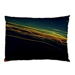 Night Lights Pillow Case (two Sides) by BangZart