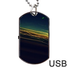 Night Lights Dog Tag Usb Flash (one Side) by BangZart