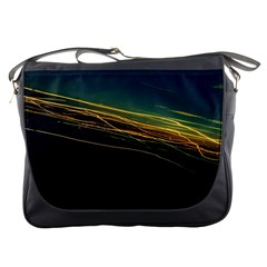 Night Lights Messenger Bags by BangZart