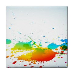 Colorful Abstract Tile Coasters