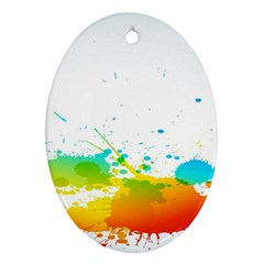 Colorful Abstract Ornament (oval)