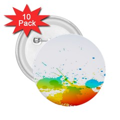 Colorful Abstract 2 25  Buttons (10 Pack)