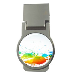 Colorful Abstract Money Clips (round)