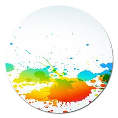 Colorful Abstract Magnet 5  (round) by BangZart