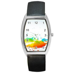 Colorful Abstract Barrel Style Metal Watch by BangZart