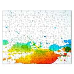 Colorful Abstract Rectangular Jigsaw Puzzl