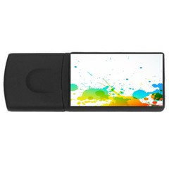 Colorful Abstract Usb Flash Drive Rectangular (4 Gb) by BangZart