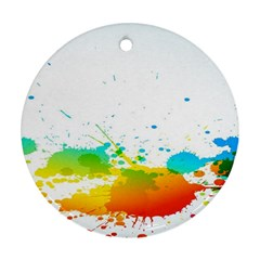 Colorful Abstract Round Ornament (two Sides) by BangZart