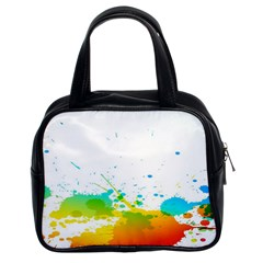 Colorful Abstract Classic Handbags (2 Sides) by BangZart