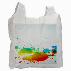 Colorful Abstract Recycle Bag (two Side)