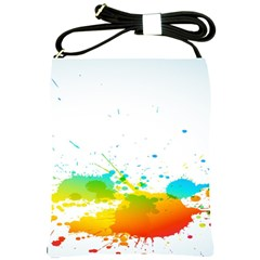 Colorful Abstract Shoulder Sling Bags by BangZart