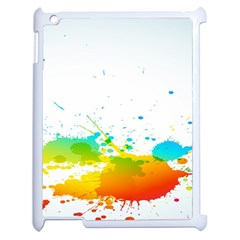 Colorful Abstract Apple Ipad 2 Case (white) by BangZart
