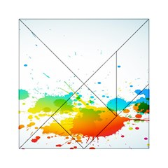 Colorful Abstract Acrylic Tangram Puzzle (6  X 6 )