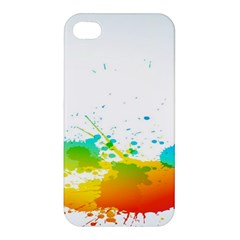 Colorful Abstract Apple Iphone 4/4s Premium Hardshell Case by BangZart