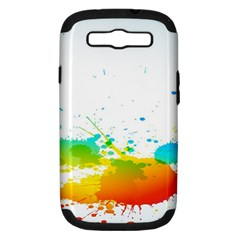 Colorful Abstract Samsung Galaxy S Iii Hardshell Case (pc+silicone)