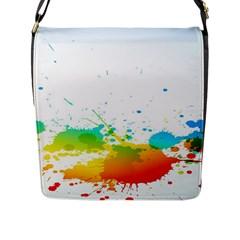 Colorful Abstract Flap Messenger Bag (l)  by BangZart
