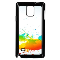 Colorful Abstract Samsung Galaxy Note 4 Case (black) by BangZart