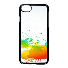 Colorful Abstract Apple Iphone 7 Seamless Case (black)