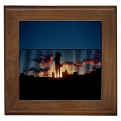Art Sunset Anime Afternoon Framed Tiles by BangZart